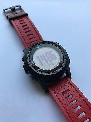 Garmin Fenix 2 SE GPS Sportuhr, Special Edition red, rot