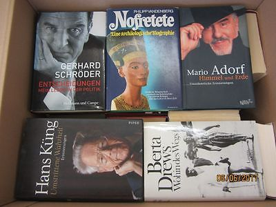 40 Bücher Biografie Biographie Memoiren Autobiografie Lebenserinnerung