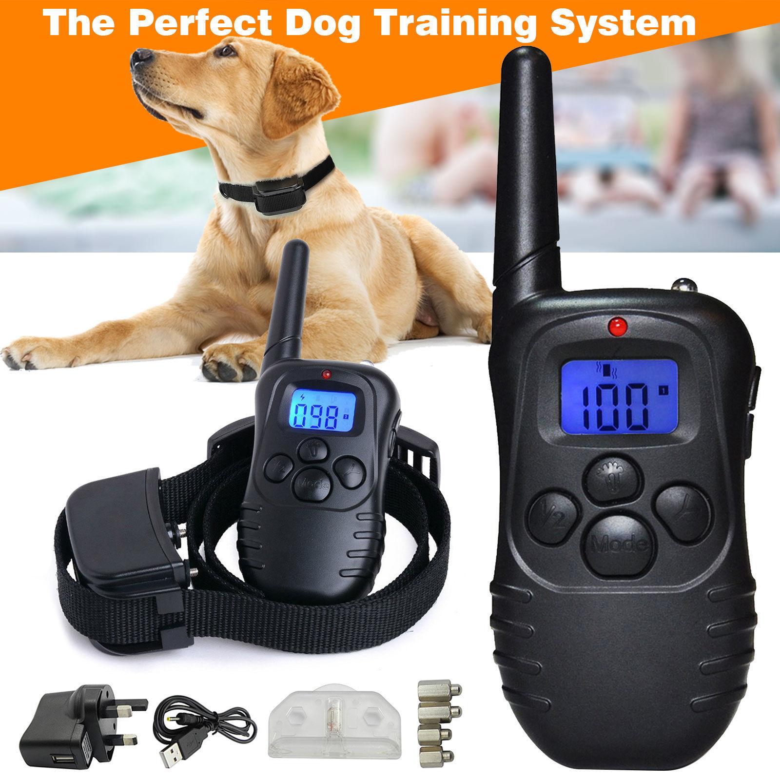 Wiederaufladbar Elektrisch Hund E-Collar Erziehungshalsband Ferntrainer Antibell
