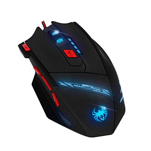 Oria Gaming Maus, 9200 DPI Hohen Präzision Mäuse,Usb Kabel Gaming Maus mit 8 Knöpfen, LED,und USB-Wired Für Laptop/PC/MacBook/Computer