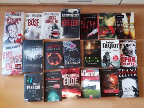 XXL Büchersammlung 20  Thriller Krimi  Spannung pur!