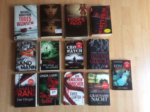 Bücherpaket Krimi/Thriller Romane 13 Stück