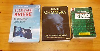 Daniele Ganser : Illegale  Kriege + Noam Chomski : Die Herren der Welt