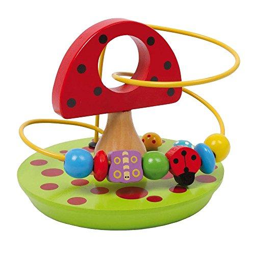 """Motorik """"Pilz"""" aus bunt lackiertem Holz, Spielspaß für kleine Kinderhände, zur Förderung der motorischen Fähigkeiten und der Geschicklichkeit"""