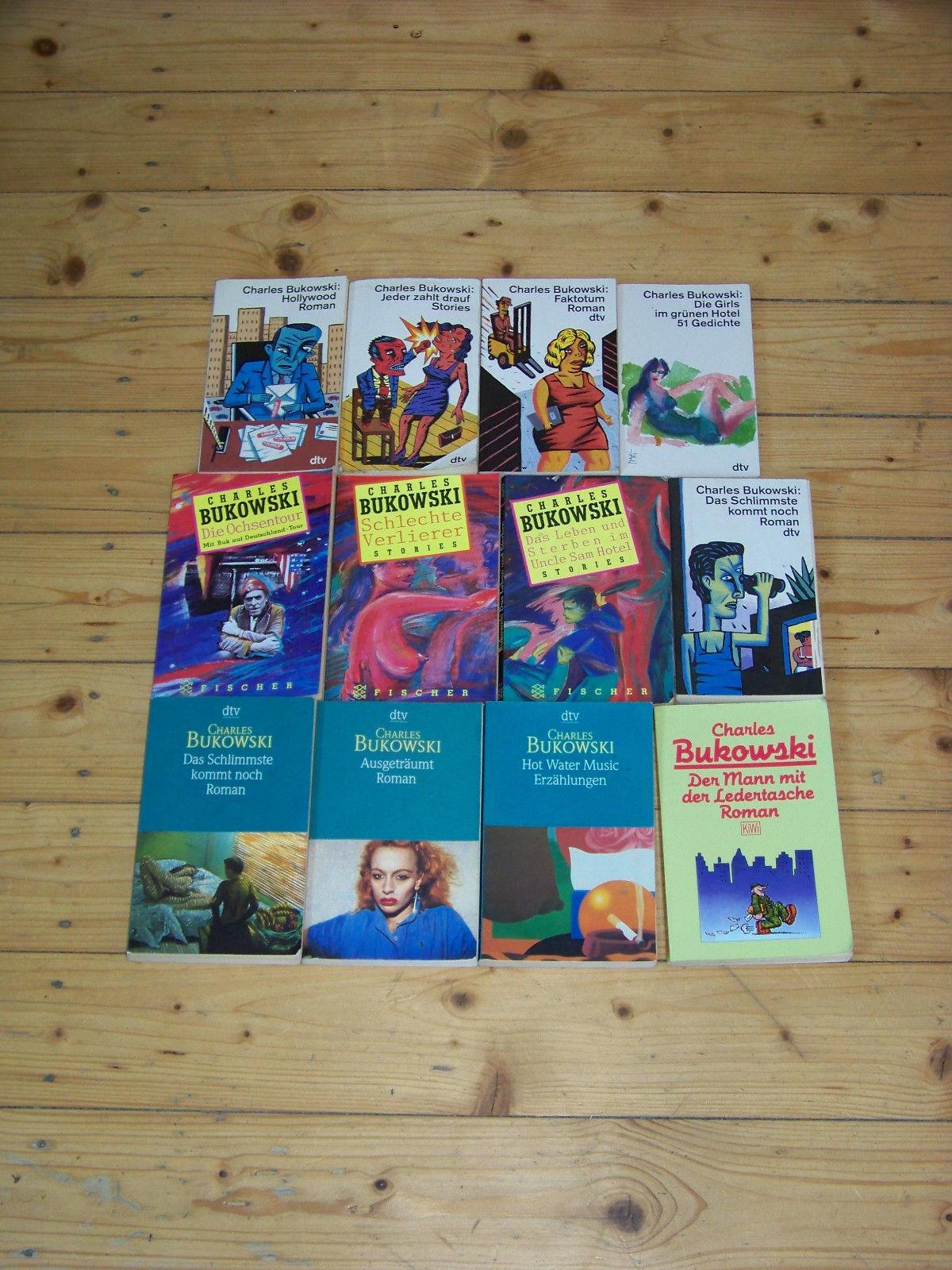 12 teilige Romansammlung von Charles Bukowski