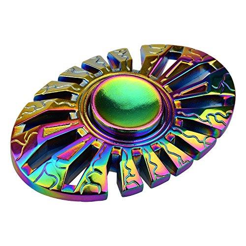 Hand Spinner Spielzeug LA TECH Mehrfarbig Schmetterling Regenbogen Metall Zinklegierung Fidget Spinner Toys Spielzeug für ADD ADHD Angst und Autismus Faulenzen Zeitvertreib Erwachsene Kinder Y214