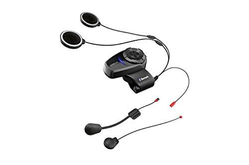 Sena 10S-01 Bluetooth-Headset und Sprechanlage für Motorräder, Schwarz