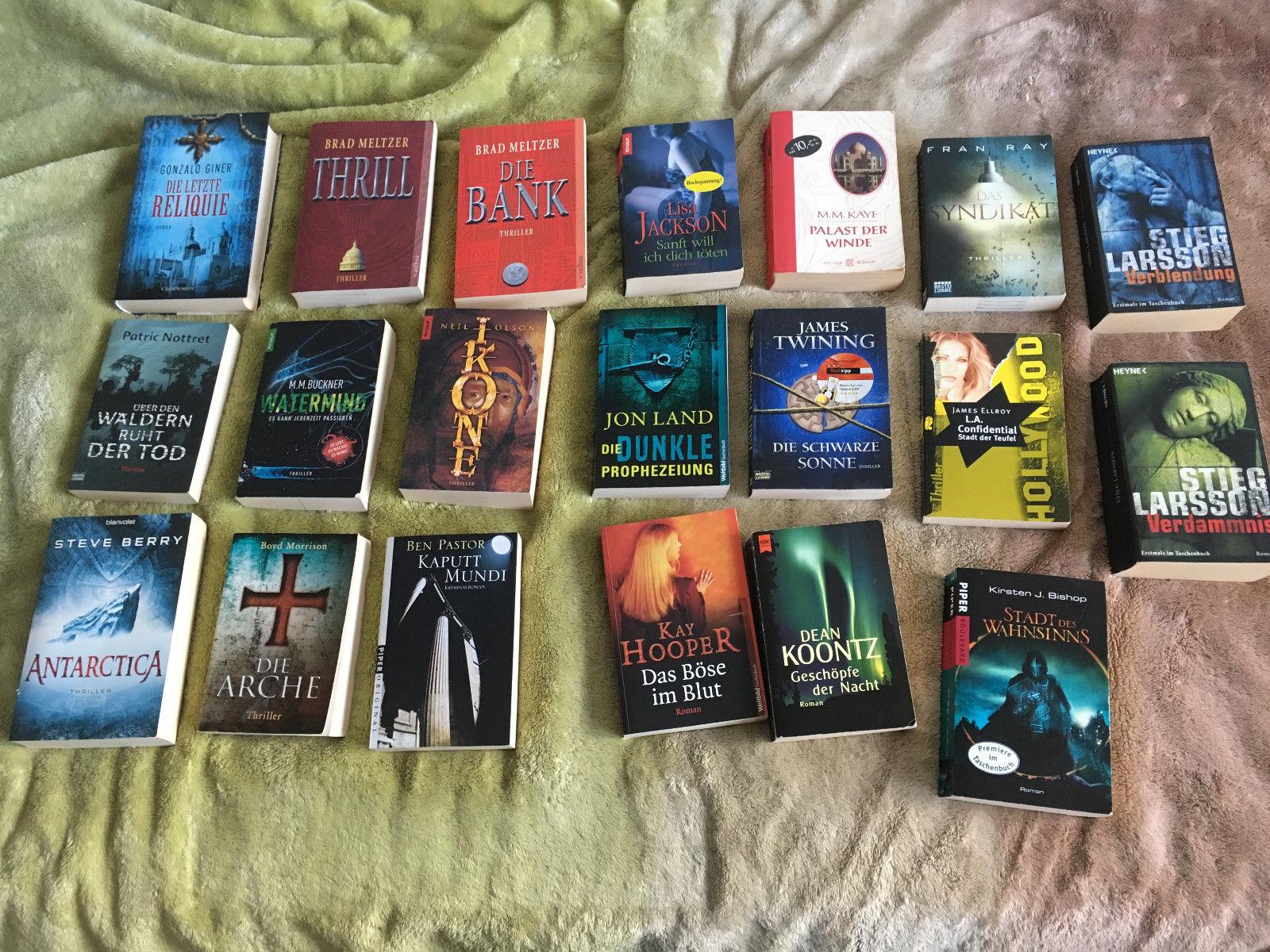 20x Bücher Bücherpaket Büchersammlung Thriller Krimi