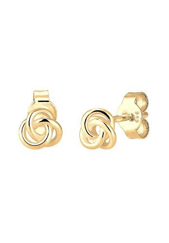 Elli Premium Ohrringe Trend Knoten Hochwertig Filigran 585 Gelbgold 0308971516
