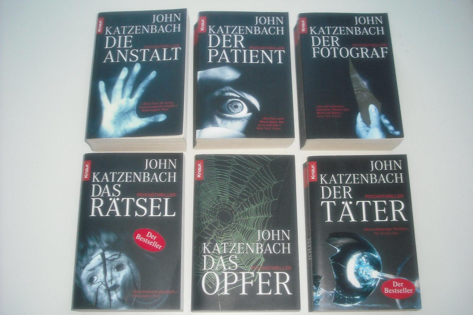 Büchersammlung * Bücherpaket * 6 x Krimi / Psychothriller * John Katzenbach * TB