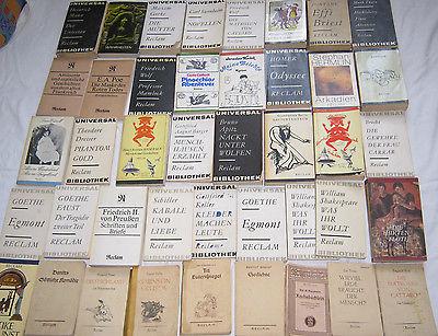 Bücher Sammlung 45x Reclam Universal Bibliothek Reclam Klassiker Bände DDR antik