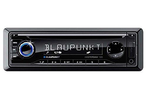Blaupunkt Auto Radio Amsterdam130 inkl Einbauset für Mitsubishi Colt (Z30,30G,3V Facelift) 11/08 > 11/12