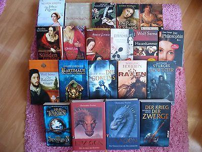 20 Stück Bücherpaket Historische Romane und Fantasy