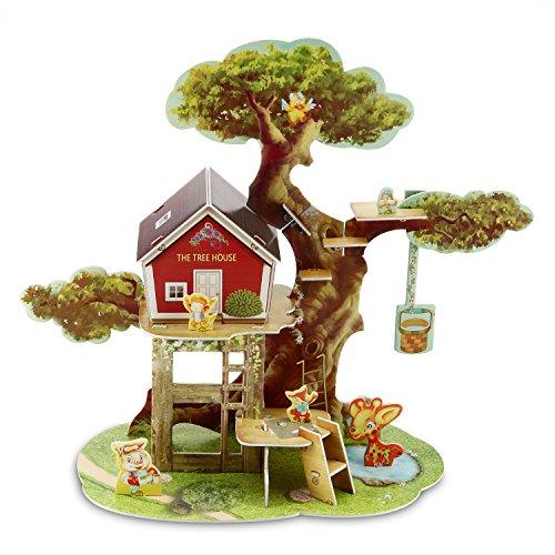 3D Puzzle Jigsaw Pädagogische Gehirn Teaser Treehouse Assemble Puzzle Spielzeug für Kind (45 Stück)