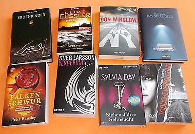 Spannendes Bücherpaket XXL Sammlung 8 Bücher Thriller/Krimis/Romane  !