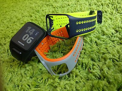 TomTom Runner 2 Cardio + Music + GPS-Uhr Laufuhr Sportuhr inkl Wechselarmbänder