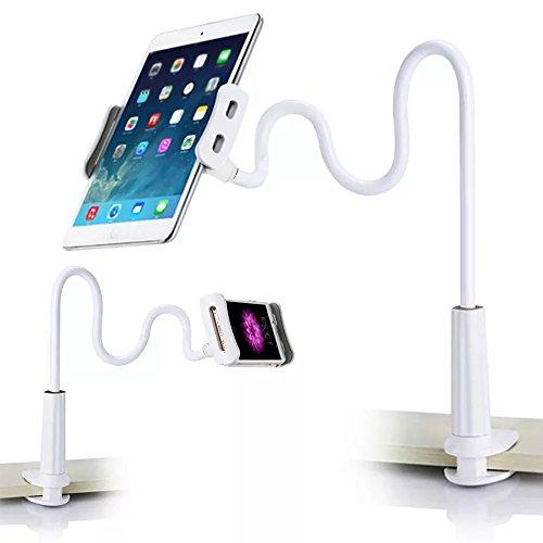 Yanhuanchan Schwanenhals Handy Halterung, iPad Schwanenhals Halterung Halter Einstellbare Halter Tablets Telefon halterung 360 ° Drehen für 4-11 Zoll Android und Apple Device