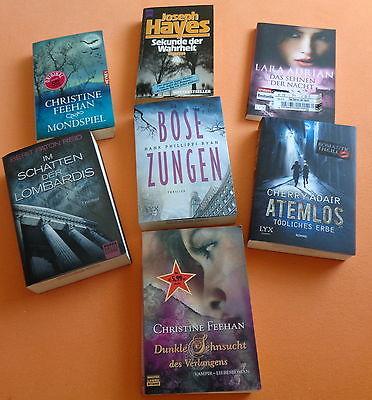 Spannendes Bücherpaket  Sammlung 7 Stück Liebe Vampir Thriller Urlaubslektüre !