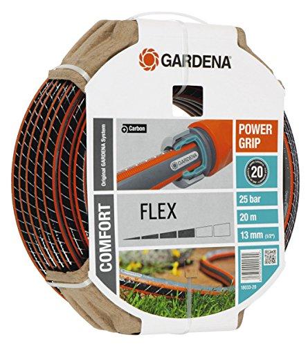 Gardena 18033-20 Schlauch Comfort FLEX, Mit Power Grip Profil und Hochwertiges Spiralgewebe (Schlauchlänge: 20m, Schlauchdurchmesser: 13mm, Berstdruck: 25 bar, ohne Schlauchstück)