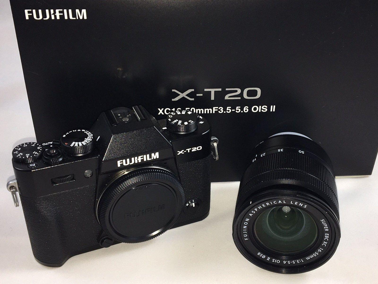 Fujifilm X-T20 mit XC16-50mm II Objektiv Kit, schwarz