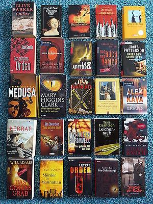 Bücherpaket 25 Krimis Thriller: Patterson Kava Ellroy Thiemeyer Gerritsen Barker