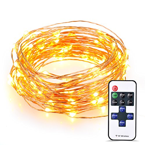 Solarlichterkette, Vtin 100 LEDs, 33ft Warmweiß Lichterkette, IP65 ...
