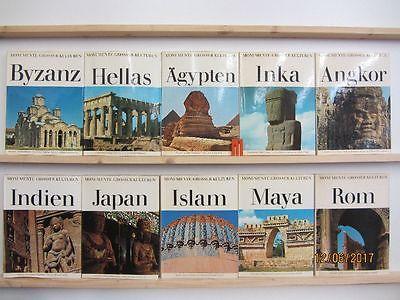 Monumente grosser Kulturen 10 Bände Weltgeschichte Kulturgeschichte