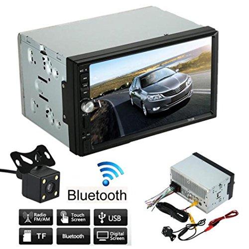 Auto Audio, bobogo Doppel 2DIN Car Stereo MP5MP3Player Radio Bluetooth USB AUX + Kamera Einparkhilfe