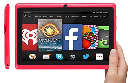 rotor® 7 Zoll Tablet PC ,HD Display 1020x600, Android 4.4,512 RAM, 8GB Speicher, Kamera, Pc, All Winner A33 Quad Core Prozessor CPU Computer, Dual Kamera mit Spezialangeboten
