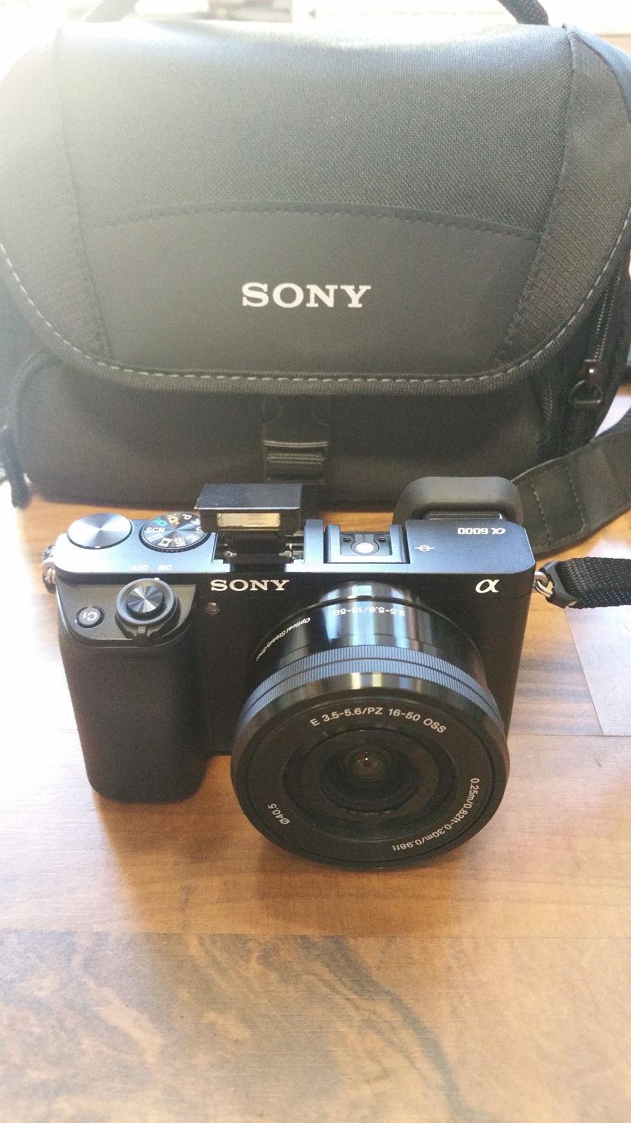Sony Alpha ILCE-6000 A6000 mit E PZ 16-50mm Objektiv top!!!!