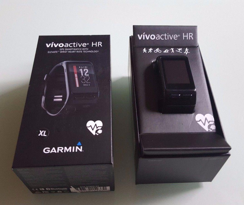 Garmin vivoactive HR - GPS Sportuhr/Laufuhr - Smartwatch - Herzfrequenzmessung -
