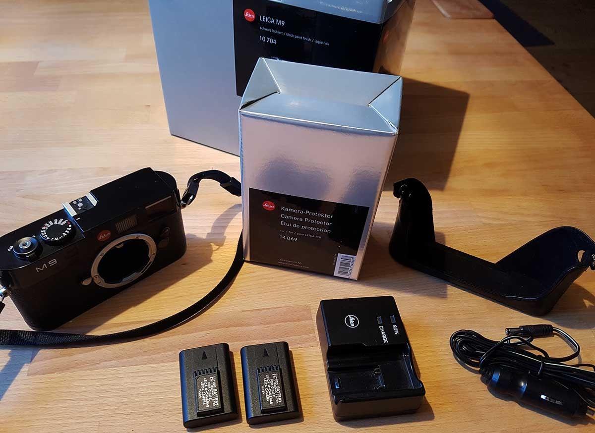 Leica M M9 Digitalkamera - Schwarz, sehr gut, neuer Sensor, 2. Akku, 20000 Ausl.