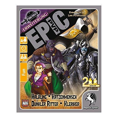 Pegasus Spiele 17283G - Epic PvP Erweiterung 2: Halbling, Katzenmensch, Ritter und Kleriker, Kartenspiel
