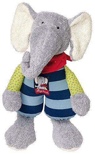sigikid, Mädchen und Jungen, Schlummerfigur Elefant, Lolo Lombardo, Grau/Blau, 47897
