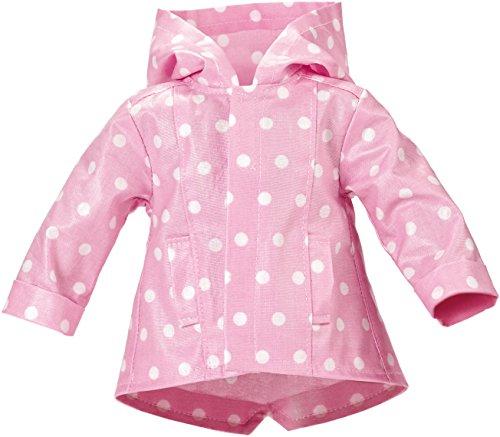 Käthe Kruse 42602 - Outfit Regenjacke rosa mit Tupfen 39-41 cm, rosa/weiß