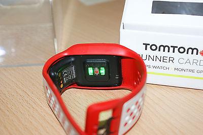 TomTom Runner Cardio GPS Laufuhr, rot/weiß Sportuhr