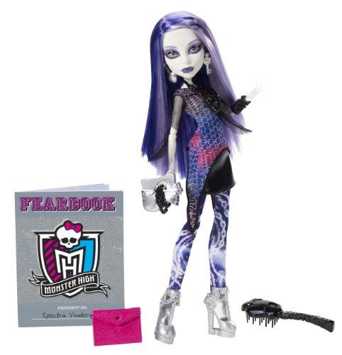 Mattel Monster High Y8499 -  Spectra Vondergeist, Puppe mit Jahrbuch