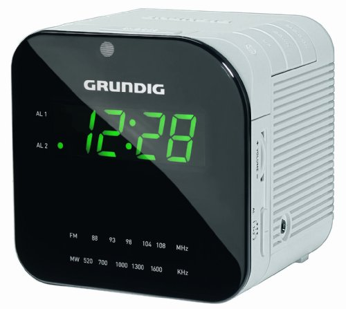 Grundig Sonoclock 590 Uhrenradio (LED-Display, UKW/MW-Tuner, 0,4 Watt) matt/weiß