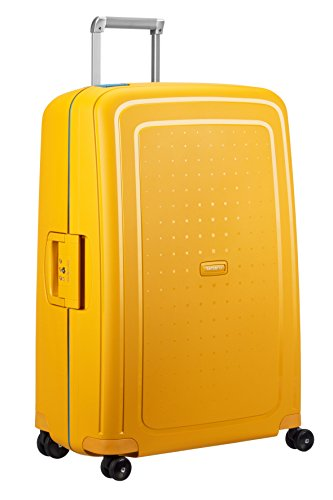 SAMSONITE S'Cure Spinner 75/28 Koffer, 75 cm, 102 L, Pineapple Yellow/Caribb.Blue