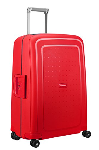 SAMSONITE S'Cure Spinner 69/25 Koffer, 69 cm, 79 L, Capri Red/Navy Blue
