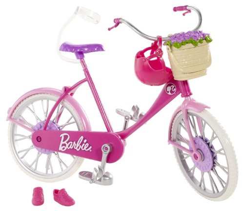 Barbie – Let's Go – Fahrrad, rosa – Zubehör-Set