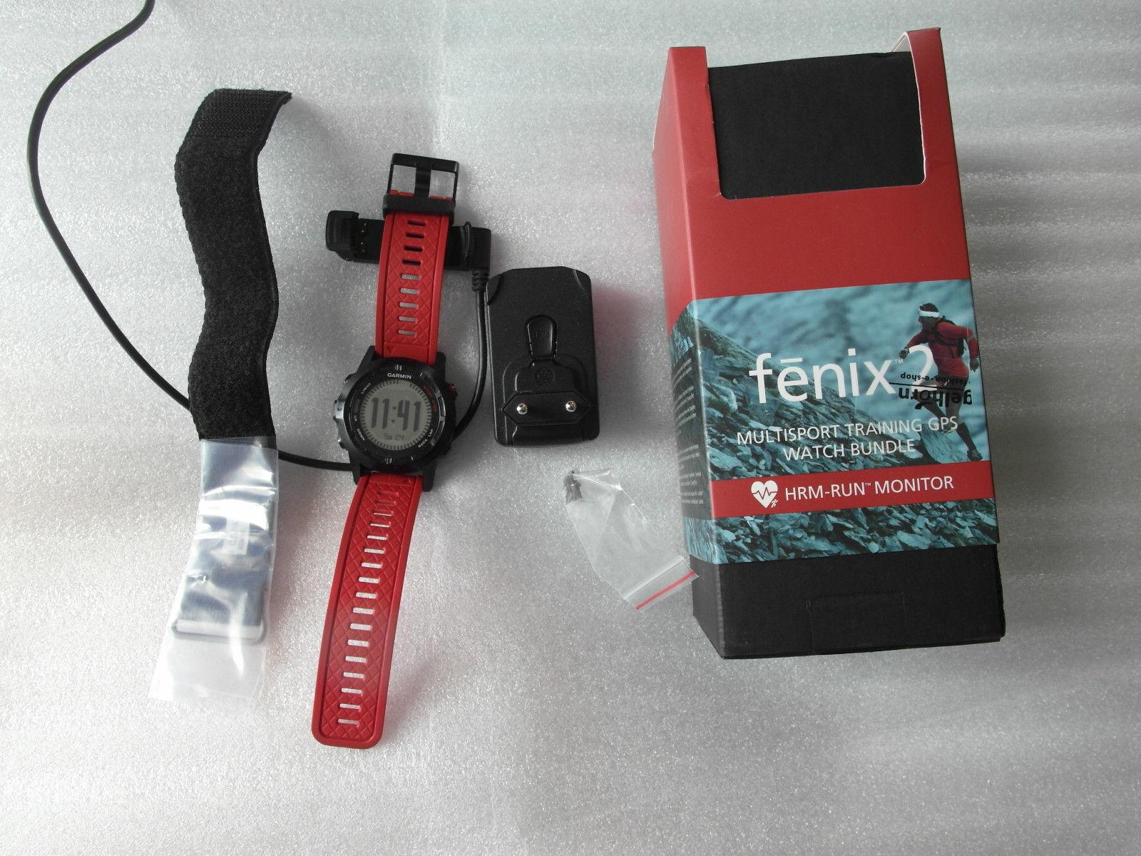 GPS Outdoor Sportuhr Garmin Fenix 2  Performance Bundle