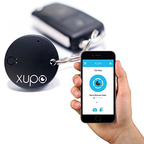 xupo® Schlüsselfinder und Artikel Locator Zubehör, und Made für iPhone, unterstützt von Bluetooth. Entwickelt in Großbritannien.