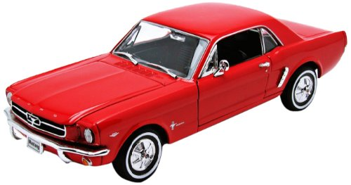 Welly 22451 red - Sammlermodell Ford Mustang Coupe 64 1/2, 1/24 aus Metall, rot