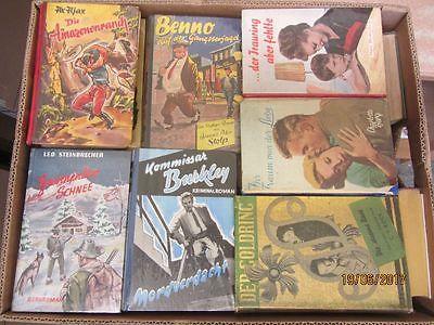 46 Bücher Romane alte Leihbücher Krimi Western Liebesromane Spionageromane u.a.