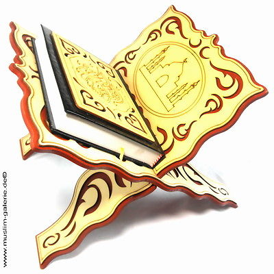 Schöne Koran Ständer Koran Halter Holz+Quran Arabisch *Allah Hijab Muslim Islam*