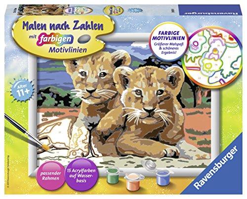 Ravensburger Malen nach Zahlen 28639 - Kleine Löwenbabys