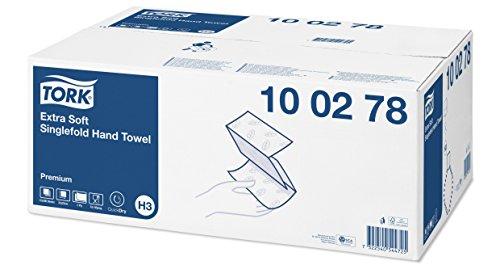 Tork 100278 extra weiche Zickzack Handtücher Premium hochweiß für Tork H3 Zickzack und Lagenfalz Handtücher-Systeme / Falthandtücher 2-lagig weich & saugstark / 15 x 200 Tücher (22.6 x 23 cm)