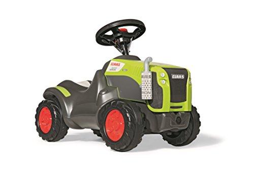 Rolly Toys 132652 Traktor Minitrac Claas Xerion, Babyrutscher, Motorhaube öffenbar, Ablagefach unter Motorhaube, Lenkrad mit Hupe (für Kinder ab 1,5 Jahren, Farbe: Grün)