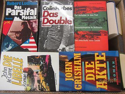 34 Bücher Romane Krimi  Kriminalromane Spionageromane Detektivromane